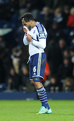 West Bromwich Albion's Joleon Lescott cuts a dejected figure - Photo mandatory by-line: Dougie Allward/JMP - Mobile: 07966 386802 - 02/12/2014 - SPORT - Football - West Bromwich - The Hawthorns - West Bromwich Albion v West Ham United - Barclays Premier League