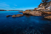 The Island at Balmoral Beach, Sydney, Australia at dusk looking towards Sydney Heads