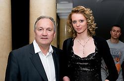 Srecko Coz and Pia Arhar at event Miss Sports of Slovenia, on April 18, 2009, in Festivalna dvorana, Ljubljana, Slovenia. (Photo by Ales Oblak / Sportida)