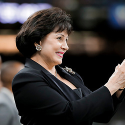 Aug 9, 2019; New Orleans, LA, USA; New Orleans Saints owner Gayle Benson watches during warm ups prior to a preseason game against the Minnesota Vikings at the Mercedes-Benz Superdome. Mandatory Credit: Derick E. Hingle-USA TODAY Sports
