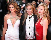 Cindy Crawford, Eva Cavalli, Georgia May Jagger attending the gala screening of The Great Gatsby at the Cannes Film Festival on 15th May 2013, Cannes, France.