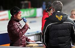 04.01.2012, DKB-Ski-ARENA, Oberhof, GER, E.ON IBU Weltcup Biathlon 2012, Staffel Frauen, im Bild Kati Wilhelm (GER) als Expertin für Biathlon bei der ARD // during relay Ladies of E.ON IBU World Cup Biathlon, Thüringen, Germany on 2012/01/04. EXPA Pictures © 2012, PhotoCredit: EXPA/ nph/ Hessland..***** ATTENTION - OUT OF GER, CRO *****