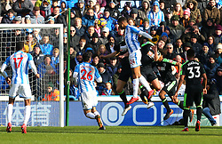 Steve Mounie of Huddersfield Town scores a goal to make it 2-1 - Mandatory by-line: Robbie Stephenson/JMP - 11/02/2018 - FOOTBALL - The John Smith's Stadium - Huddersfield, England - Huddersfield Town v Bournemouth - Premier League
