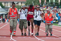 Behind the scenes, VANCE Shaquille, USA, 200m, T42, 2013 IPC Athletics World Championships, Lyon, France