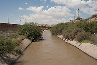 Rio Grande Channel below Diversion Dam, El Paso, TX.