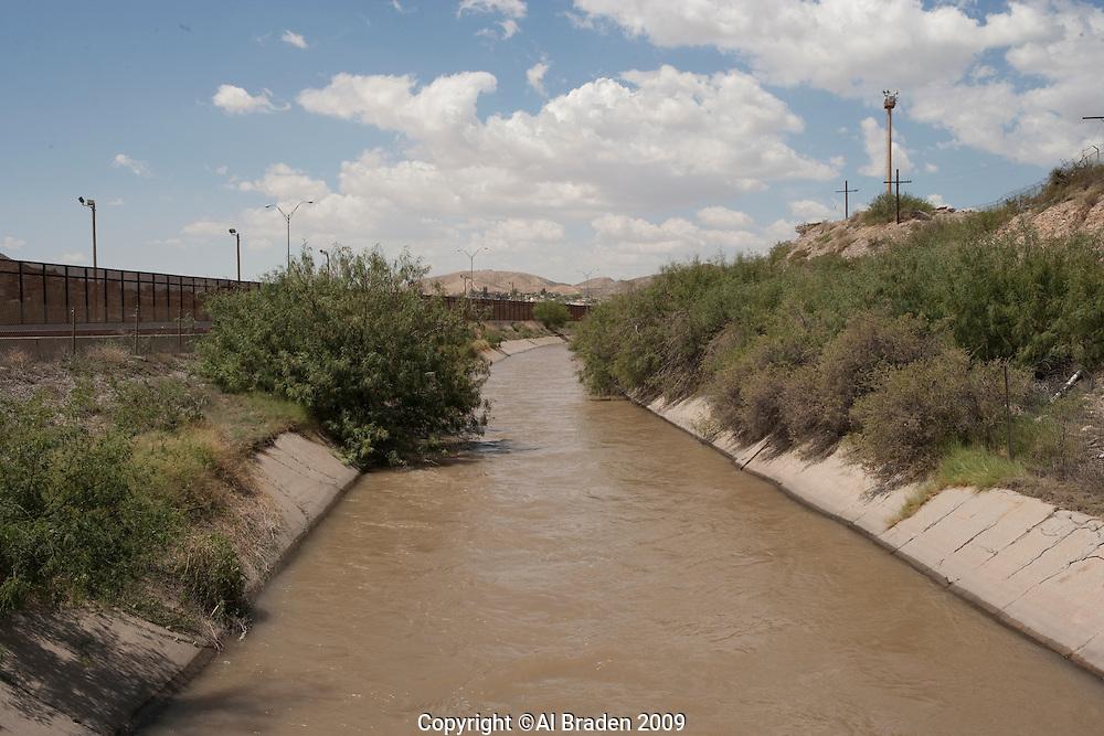 Rio Grande Channel below Diversion Dam, El Paso, TX.
