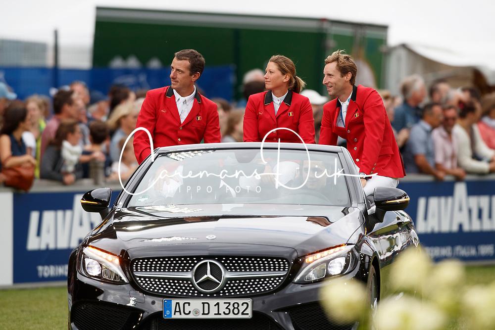 Team Belgium, Wathelet gregory, Catherine Van Roosbroeck, Devos Pieter<br /> CHIO Aachen 2017<br /> © Hippo Foto - Sharon Vandeput<br /> 20/07/2017