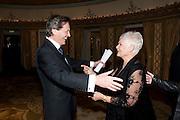 DAME JUDY DENCH; MELVYN BRAGG, The South Bank Sky Arts Awards , The Dorchester Hotel, Park Lane, London. January 25, 2011,-DO NOT ARCHIVE-© Copyright Photograph by Dafydd Jones. 248 Clapham Rd. London SW9 0PZ. Tel 0207 820 0771. www.dafjones.com.