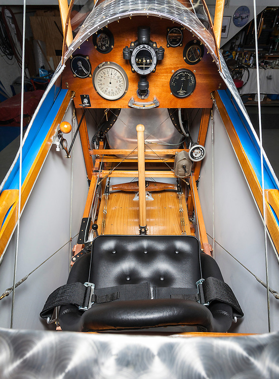 """Panel of a fully restored and airworthy Curtiss JN-4D """"Jenny""""."""