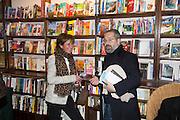 SINDY CAPLAN; JAMES BRETT,  Allie Esiri's The Love Book launch party , Daunt Books <br /> 83 Marylebone High Street, London. 5 February 2014