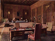 Adolph Hitler's office in the German Reichs Chancellery. 1938 Postcard.
