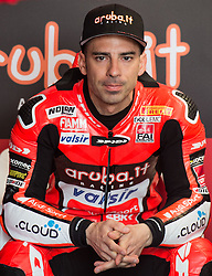 February 25, 2018 - Melbourne, Victoria, Australia - Italian rider Marco Melandri (#33) of Aruba.it Racing - Ducati in his garage before the morning warm up session on day 3 of the opening round of the 2018 World Superbike season at the Phillip Island circuit in Phillip Island, Australia. (Credit Image: © Theo Karanikos via ZUMA Wire)