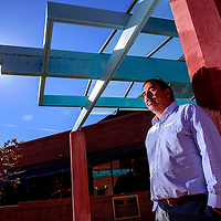 Navajo Nation Museum director Manuelito Wheeler poses for a portrait at the Museum Thursday.