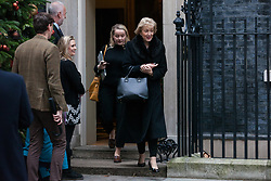 London, UK. 6th December, 2018. Andrea Leadsom MP, Lord President of the Council and Leader of the House of Commons, leaves 10 Downing Street following a special Cabinet meeting called to discuss the latest developments regarding Brexit.