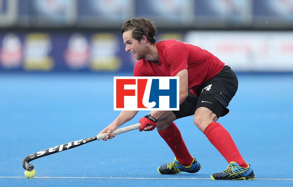LONDON, ENGLAND - JUNE 17:  Adam Froese of Canada during the Hero Hockey World League semi final match between Canada and India at Lee Valley Hockey and Tennis Centre on June 17, 2017 in London, England.  (Photo by Alex Morton/Getty Images)