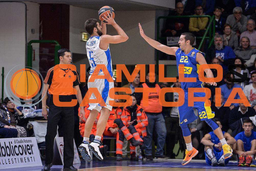DESCRIZIONE : Eurolega Euroleague 2015/16 Group D Dinamo Banco di Sardegna Sassari - Maccabi Fox Tel Aviv<br /> GIOCATORE : Matteo Formenti<br /> CATEGORIA : Tiro Tre Punti Three Point Controcampo<br /> SQUADRA : Dinamo Banco di Sardegna Sassari<br /> EVENTO : Eurolega Euroleague 2015/2016<br /> GARA : Dinamo Banco di Sardegna Sassari - Maccabi Fox Tel Aviv<br /> DATA : 03/12/2015<br /> SPORT : Pallacanestro <br /> AUTORE : Agenzia Ciamillo-Castoria/L.Canu