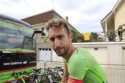 Taylor Phinney (USA) Cannondale Drapac heads to sign on before the start of Stage 4 of the 104th edition of the Tour de France 2017, running 183km from La Mure to Serre Chevalier, France. 19th July 2017.<br /> Picture: Eoin Clarke | Cyclefile<br /> <br /> All photos usage must carry mandatory copyright credit (© Cyclefile | Eoin Clarke)