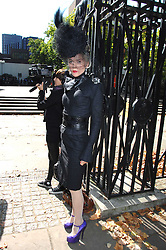 DAPHNE GUINNESS at the memorial service of Isabella Blow held at the Guards Chapel, London W1 on 18th September 2007.<br /><br />NON EXCLUSIVE - WORLD RIGHTS