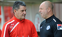 Crawley Town Manager, John Gregory & Rochdale Manager, Keith Hill pre match - photo mandatory by-line David Purday JMP- Tel: Mobile 07966 386802 - 06/09/14 - Crawley Town v Rochdale - SPORT - FOOTBALL - Sky Bet Leauge 1 - London - Checkatrade.com Stadium
