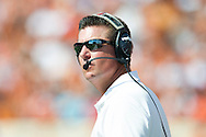 AUSTIN, TX - SEPTEMBER 26:  Oklahoma State Cowboys head coach Mike Gundy looks on against the Texas Longhorns on September 26, 2015 at Darrell K Royal-Texas Memorial Stadium in Austin, Texas.  (Photo by Cooper Neill/Getty Images) *** Local Caption *** Mike Gundy