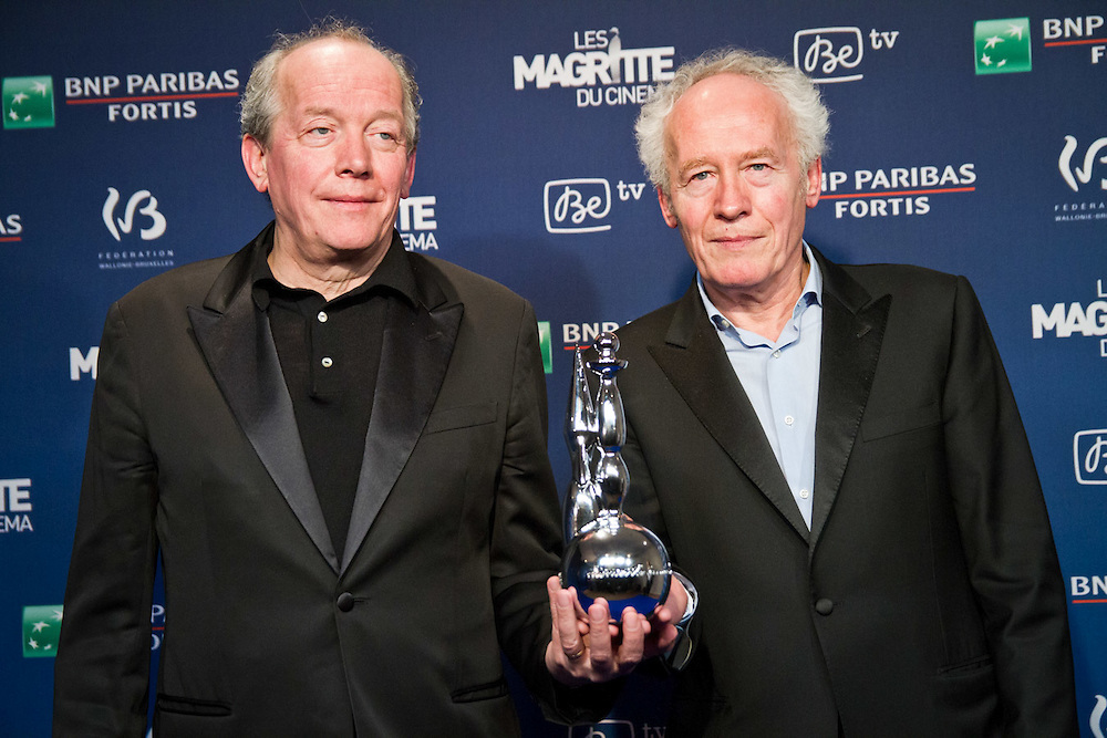 Luc and Jean-Pierre Dardenne, best director at the Magritte Awards celebrating the best of the Belgian Movie Industry.