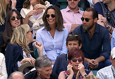 Celebrities at Wimbledon - Day Nine - 11 July 2018