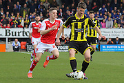 Burton Albion defender Shane Cansdell-Sherriff cuts out a Fleetwood pass during the Sky Bet League 1 match between Burton Albion and Fleetwood Town at the Pirelli Stadium, Burton upon Trent, England on 12 March 2016. Photo by Aaron  Lupton.
