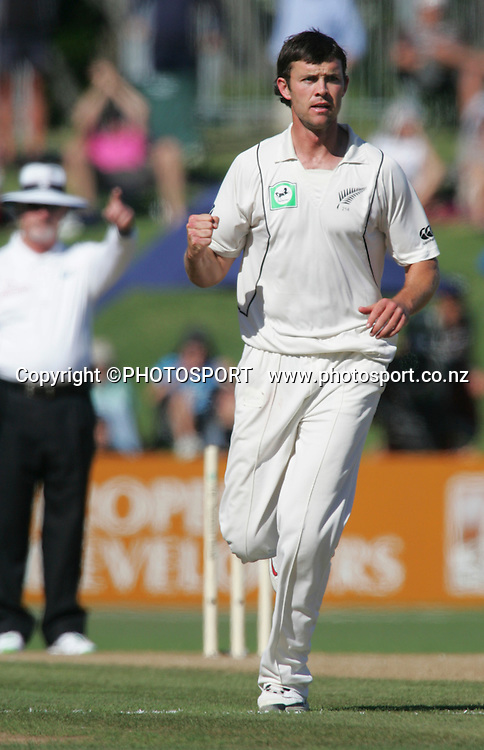 James Franklin celebrates a wicket. Second Test Match, National Bank Test Series. New Zealand v West Indies. McLean Park, Napier. 22 December 2008,  Photo: John Cowpland/PHOTOSPORT