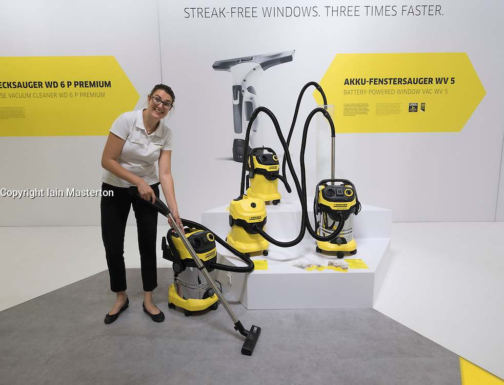 Demonstration of cleaning machine at Karcher stand at 2016  IFA (Internationale Funkausstellung Berlin), Berlin, Germany
