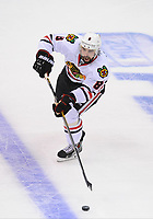 24 May 2014 Chicago Blackhawks defenseman Nick Leddy 8  during Game 3 of The Western Conference Final between The Chicago Blackhawks and The Los Angeles Kings AT The Staples Center in Los Angeles Approx NHL Ice hockey men USA May 24 Stanley Cup Playoffs Western Conference Final Blackhawks AT Kings Game 3 <br />