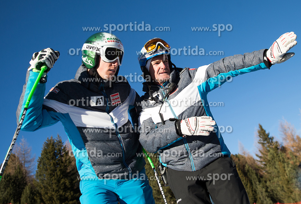 26.12.2015, Deborah Compagnoni Rennstrecke, Santa Caterina, ITA, FIS Ski Weltcup, Santa Caterina, Abfahrt, Herren, 1. Training, Streckenbesichtigung, im Bild v.l. Otmar Striedinger (AUT), Sportlicher Leiter ÖSV Herren- Alpin Andreas Puelacher // Otmar Striedinger of Austria ( L ), OeSV men' s headcoach Andreas Puelacher ( R ) during the course inspection of 1st practice run of men's Downhill of the Santa Caterina FIS Ski Alpine World Cup at the Deborah Compagnoni Course in Santa Caterina, Italy on 2015/12/26. EXPA Pictures © 2015, PhotoCredit: EXPA/ Johann Groder