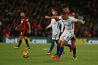 Football - 2017 / 2018 Premier League - AFC Bournemouth vs. Chelsea<br /> <br /> Danny Drinkwater of Chelsea clears from Bournemouth's Andrew Surman at Dean Court (Vitality Stadium) Bournemouth <br /> <br /> COLORSPORT/SHAUN BOGGUST