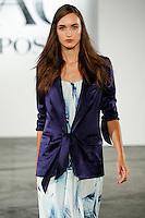 Stasha Yatchuk walks the runway wearing ZAC by Zac Posen Spring 2016 during New York Fashion Week on September 13, 2015