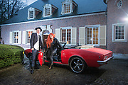20160209 OUD-TURNHOUT Belgium Tom Vissers en Danielle Huybrechts the sky is the limit poses for the photographer at their house pict FRANK ABBELOOS