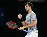 GRIGOR DIMITROV (BUL) macht die Faust und jubelt,Jubel,Emotion,<br /> <br /> Australian Open 2017 -  Melbourne  Park - Melbourne - Victoria - Australia  - 27/01/2017.
