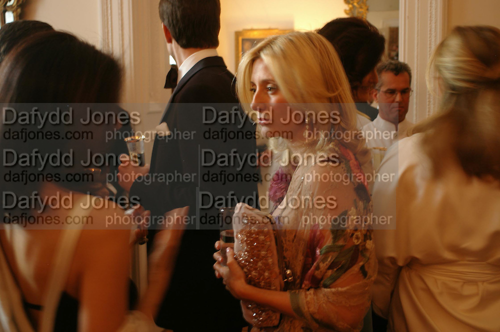 Princess Marie-Chantal of Greece. An Evening in honour of Salvatore Ferragamo hosted by the Ambassador of Italy. The Italian Embassy, 4 Grosvenor Square. London W1. 8 June 2005. ONE TIME USE ONLY - DO NOT ARCHIVE  © Copyright Photograph by Dafydd Jones 66 Stockwell Park Rd. London SW9 0DA Tel 020 7733 0108 www.dafjones.com