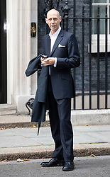© Licensed to London News Pictures. 18/09/2018. London, UK. Photographer Nick Knight arrives in Downing Street to attend a  Fashion Week reception hosted by Prime Minister Theresa May. Photo credit: Peter Macdiarmid/LNP