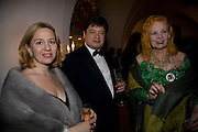 TANYA PISKOV; GOERGE PISKOV; VIVIENNE WESTWOOD. Chaos Point: Vivienne Westwood Gold Label Collection performance art catwalk show and auction in aid of the NSPCC. Banqueting House. London. 18 November 2008<br />  *** Local Caption *** -DO NOT ARCHIVE -Copyright Photograph by Dafydd Jones. 248 Clapham Rd. London SW9 0PZ. Tel 0207 820 0771. www.dafjones.com