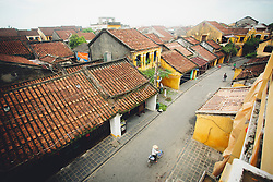 Street of Hoi An by a foggy day, Vietnam, Southeast Asia
