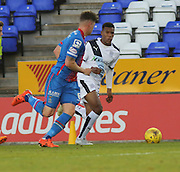 Dundee's Riccardo Calder runs at Inverness' Josh Meekings - Inverness Caledonian Thistle v Dundee at Caledonian Stadium, Inverness<br /> <br />  - © David Young - www.davidyoungphoto.co.uk - email: davidyoungphoto@gmail.com