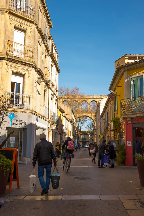 Les Arceaux, Montpellier, France, the neighbourhood dominated by the Saint clément aqueduct.