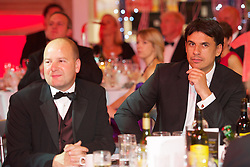 CARDIFF, WALES - Monday, October 8, 2012: Wales' manager Chris Coleman and Chief-Executive Jonathan Ford during the FAW Player of the Year Awards Dinner at the National Museum Cardiff. (Pic by David Rawcliffe/Propaganda)