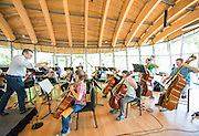 Artosphere Festival Orchestra rehearsal in the Grand Hall at Crystal Bridges Museum on Tuesday, May 27, 2014 in Bentonville, Ark. Photo by Beth Hall