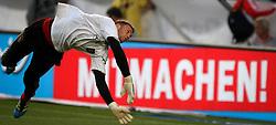 GER, Commerzbank Arena, GER, Stuttgart, FSP, LS, Deutschland (GER) vs Brasilien (BRA), im Bild .. Torwart Manuel Neuer (GER/FC Bayern München) bei der Erwärmung // durch the friendly ship between Germany (GER) vs Brasil (BRA) in Commerzbank Arena, Stuttgart, on 2011/08/11 EXPA Pictures © 2011, PhotoCredit: EXPA/ nph/  Hessland       ****** out of GER / CRO  / BEL ******