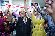 Demonstators storm the governor's office in Jalal-Abad seeking to return loyalists of ousted President Kurmanbek Bakiyev to power. May 13, 2010.