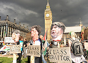 01.MAY.2010.   LONDON<br /> <br /> A FIGURE OF DAVID CAMERON IS HUNG AND BEHEADED BY MAY DAY PROTESTERS OUT SIDE THE HOUSES OF PARLIAMENT IN WESTMINSTER.<br /> <br /> BYLINE MUST READ : EDBIMAGEARCHIVE.COM<br /> <br /> *THIS IMAGE IS STRICTLY FOR UK NEWSPAPERS AND MAGAZINES ONLY* <br /> *FOR WORLD WIDE SALES AND WEB USE PLEASE CONTACT EDBIMAGEARCHIVE - 0208 954 5968*