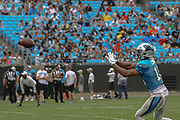 Carolina Panthers wide receiver Andre Levrone (16) catches a pass during Fan Fest at Bank of America Stadium, Friday, Aug. 2, 2019, in Charlotte, NC. (Brian Villanueva/Image of Sport)