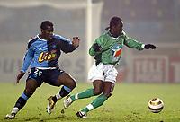Fotball<br /> Frankrike 2004/05<br /> Ligacup<br /> Le Havre v Saint Etienne<br /> 21. desember 2004<br /> Foto: Digitalsport<br /> NORWAY ONLY<br /> DIDIER ZOKORA (ST-E) / CHRISTIAN NADE (HAV)