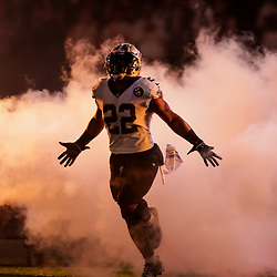 Oct 8, 2018; New Orleans, LA, USA New Orleans Saints running back Mark Ingram II (22) during introductions before a game against the Washington Redskins at the Mercedes-Benz Superdome.