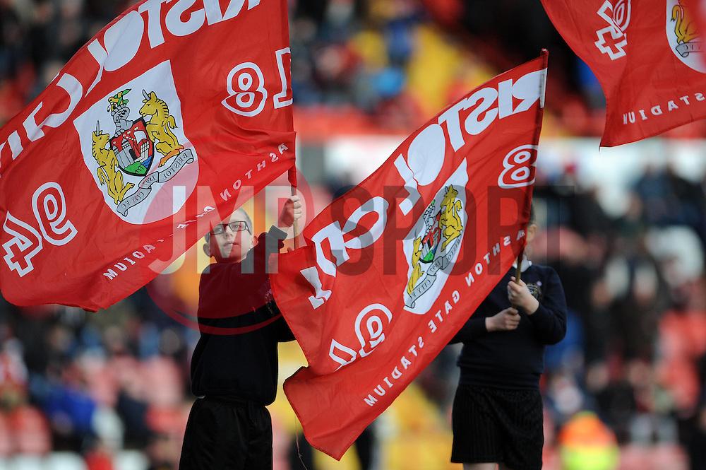 flag bearers - Photo mandatory by-line: Dougie Allward/JMP - Tel: Mobile: 07966 386802 01/03/2014 - SPORT - FOOTBALL - Bristol - Ashton Gate - Bristol City v Gillingham - Sky Bet League One